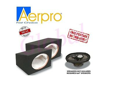 "AERPRO SB69A 6x9"" SEALED SPEAKER PAIR ENCLOSURE BOX MDF CABINET SURFACE 6x9 inch"