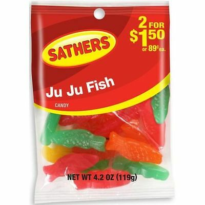 Sathers JuJu Fish Candy, 4.2 Ounce -- 12 per case.