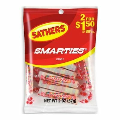 Sathers Smarties Candy, 2 Ounce -- 12 per case.