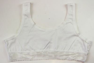 Bonds Girls Kids White Wideband Crop Top Bra Training Underwear Size 12 14