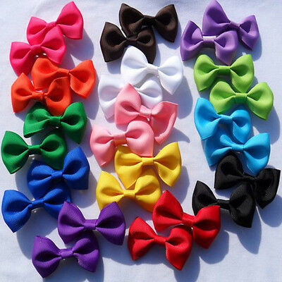 A Pair Cute Baby Toddler Infant Kids Girls Bow Bowknot Hair Clips Accessory
