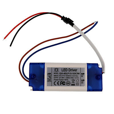 Constant Current Driver For 12-18pcs 3W High Power LED AC85-265V 40w 600mA