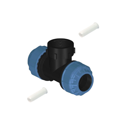 MDPE  Compression Fitting Tees +liner   Various Sizes for Water Pipe 20mm - 50mm