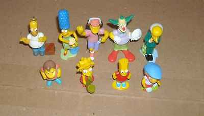 9 Figurines Kinder Simpson 2007