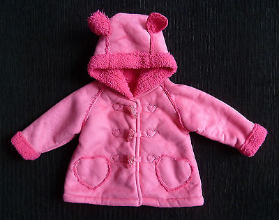 Baby clothes GIRL 3-6m Georg pink faux-suede coat fleece lined 2nd item post-fre