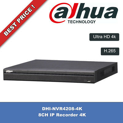 8 Ch Network Ip Video Recorder H.265 Dahua Dhi-Nvr4208-4K New Ultra Hd 4K !!!