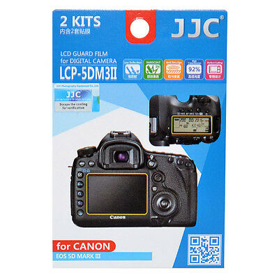 2x Film LCD Screen Display Hard Protection Protector for Canon EOS 5D Mark III