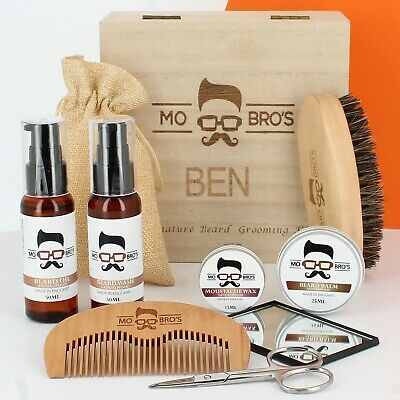 Mo Bro's Wooden Signature XL Beard Care Grooming Gift Box
