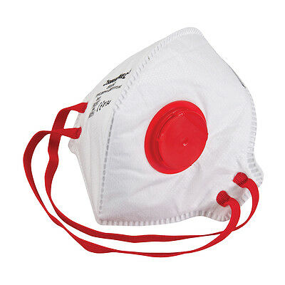 Dust Mask Respirator Fold Flat Valved FFP3 Protective Safety Filter 1-100 packs