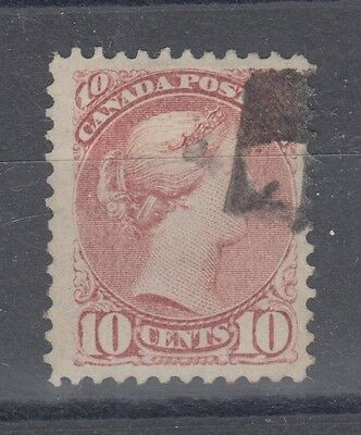 Ten cent Small Queen with fancy cancel Canada used