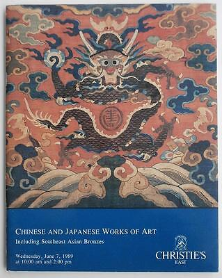 Auction Catalog Christie's East 1989, Chinese & Japanese Works Of Art + Bronzes