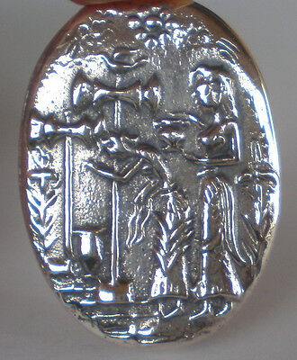 Palace of Knossos Silver Brooch Pin Minoan Crete