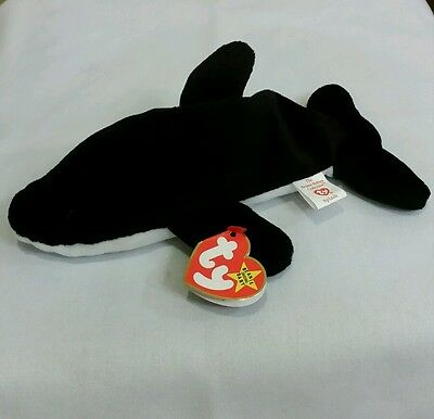 Ty Beanie Baby SPLASH the Killer Whale #4022 w/Errors  PVC 1993, Retired & New