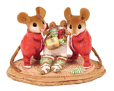 TWO FOR ONE by Wee Forest Folk, WFF# M-329, Retired Christmas Mice (Mouse)