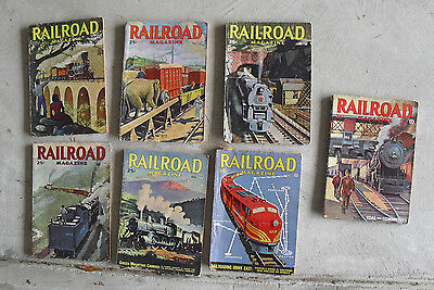 Lot of 7 Different Vintage 1946 Railroad Magazines