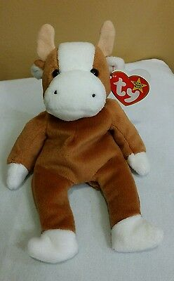 Ty Beanie Baby BESSIE  the Cow  w/Errors  #4009 1995 PVC MWMT