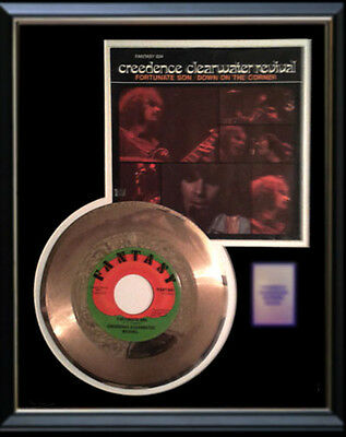 Creedence Clearwater Revival Gold Record Fortunate Son Rare  Disc 45 Rpm Sleeve