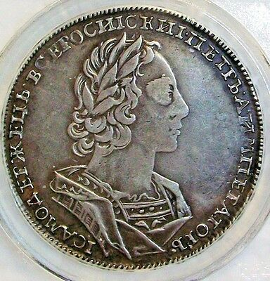 1723 Russia Peter I (The Great) Silver Ruble Ngc Xf-40 L@@k