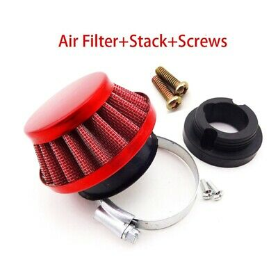 44mm Air Filter Stack Fit 47 49 cc Engine Carb Mini Dirt Pocket Bike Go Kart ATV
