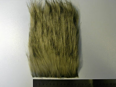 Beige Fox Long Pile Craft Fur, Fly Tying Material
