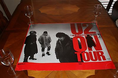 Rare Vintage U2 ON TOUR 1983 US Promo Only POSTER  Free Shipping!