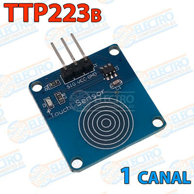 Modulo TTP223B sensor capacitivo digital touch tactil interruptor arduino