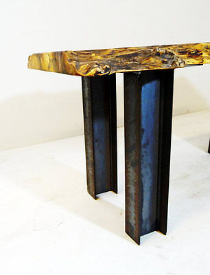 DIY SET of 4, Steel I-beam Table Legs For Industrial Style Dining Table Handmade