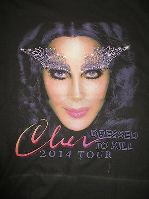 "2014 CHER ""Dress To Kill"" Concert Tour (MED) T-Shirt"