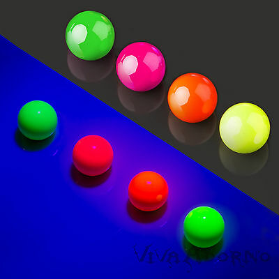Piercing Screw-Ball Stainless steel glows Neon in Black light Spare ball Z375