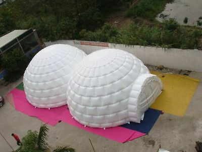 26' 8M Inflatable Promotion Advertising Events Igloo Double Domes 0.4 PVC/Motor