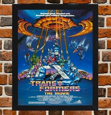 Framed Transformers The Movie Film Poster A4 / A3 Size In Black / White Frame