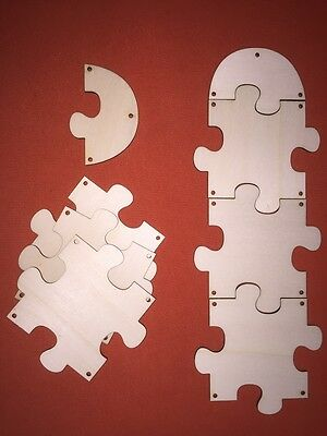 4 pcs LARGE  WOODEN PUZZLE FAMILY STORY SIGN JIGSAW PLAQUE BIRTHDAYS CRAFT