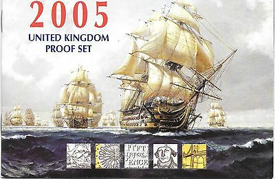 2005 Great Britain 12 Coin 8 Page C.O.A. Document Set~Free Shipping