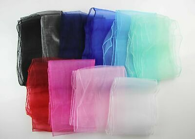 25 X New Organza Bows Chair Sashes Wedding Engagement Red Black Silver Seat Bow
