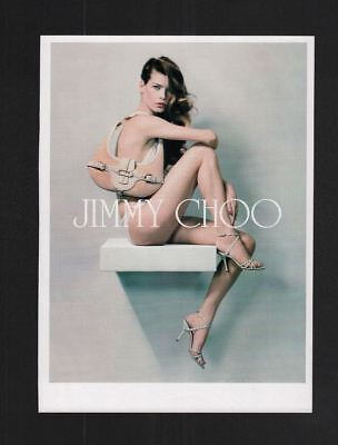 2000s Magazine 8.5x11 Print Ad~Jimmy Choo~Sexy Brunette Long Gorgeous Legs~A240