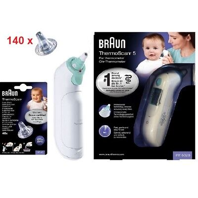 Braun ThermoScan-5 IRT6020 Ear Thermometer with 140 Probe Covers