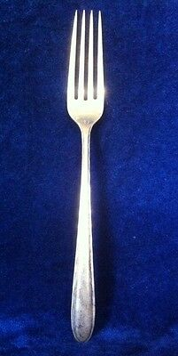 """SILVER FLUTES 7 1/2"""" FORK by Towle Sterling 1941"""