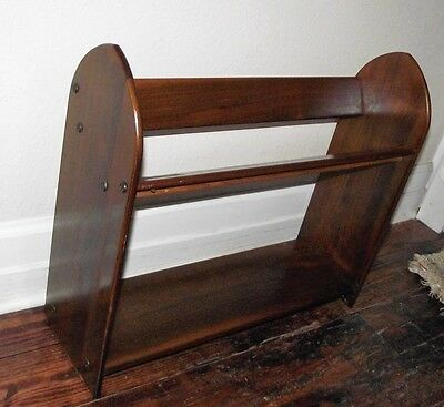 Mid Century Modern Standing Quality Wood Bookcase Childrens Books Bookcase