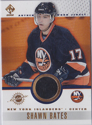 2001-02 -Private Stock- Shawn Bates Authentic Game Worn Jerseycard#61 Nr/mint