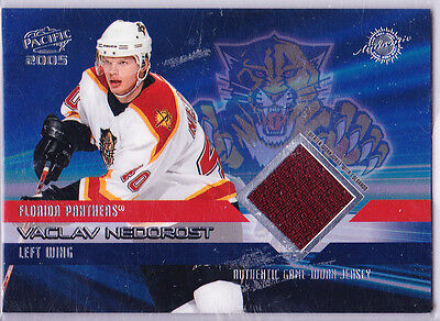 2003-04 -Pacific- Vaclav Nedorost  Authentic Game Worn Jerseycard#27 Nr/mint