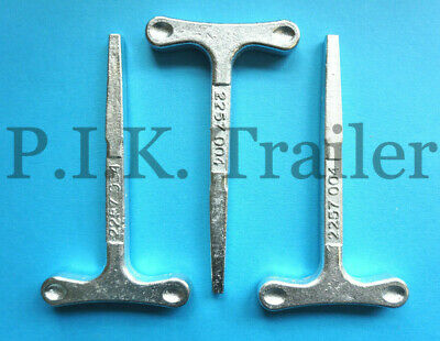 3 x Large T Key for Budget Door Locks on Trailers Horsebox Coach Bus