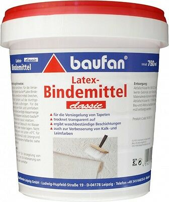(10,23€/1l) Baufan Latex Bindemittel classic 750 ml