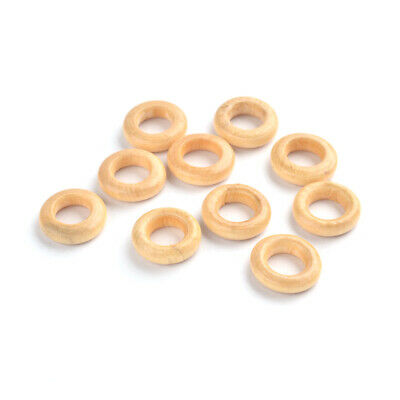 50pc Donut Wooden Linking Rings Dyed Lead Free Wheat 15x4mm 8mm for DIY Bracelet