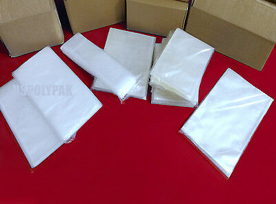 """1000 Clear 4x16"""" Poly Bags 2-Mil Layflat Open Top LDPE Plastic Baggies"""
