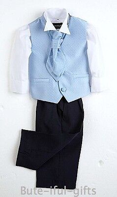 Baby Boys Sicily 4 Pce Formal Suit 0-18 Mth Wedding Page Boy Christening Party