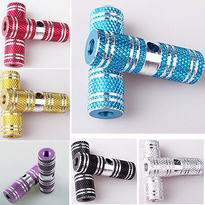 1Pair New Good Aluminum Alloy Rear Axle Foot Pegs For BMX Bike Bicycle Cyling