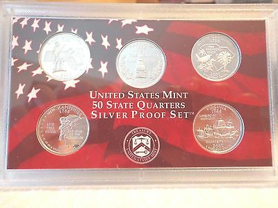 2000 S SILVER Proof State Quarter Set   No Box or Coa