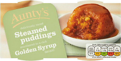 Aunty's Golden Syrup Steamed Pudding 2x100g