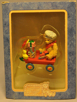 Cherished Teddies: Bear in Wagon With Toys - 400793 - Hanging Ornament