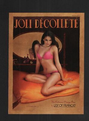 2008 Magazine 8.5x11 Print Ad~Joli Decollete Lingerie~Lily of France~Bra~A250